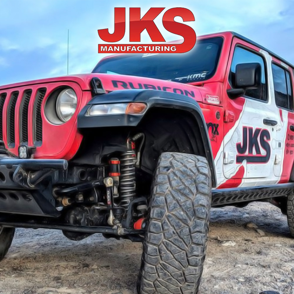 JKS Manufacturing 8211 Spare Tire License Plate Mount Kit for Jeep Wrangler