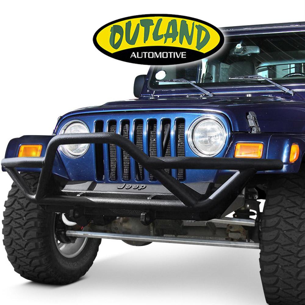 Outland 391122611 Textured Black Tail Light Euro Guard for Wrangler